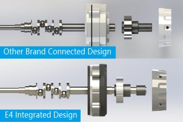 Jack E4-4-M03-333 4-nitný overlock, kompatibilná konštrukcia s inými známymi značkami