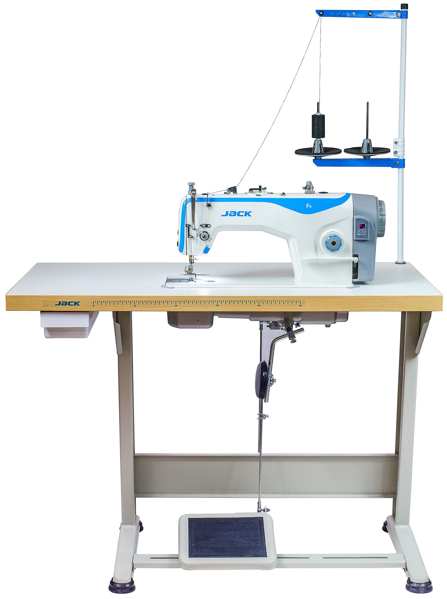 Jack F4 – kpl. výkonný šijací stroj so zúbkovým podávaním a servomotorom v hlave