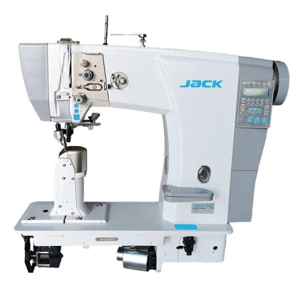 Jack-6691 stĺpový šijací stroj pre ťažký materiál