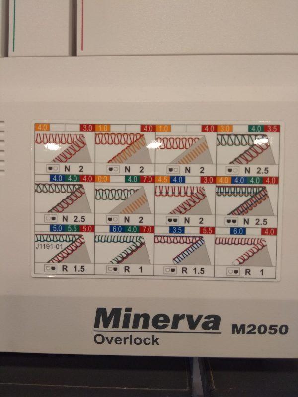Minerva 2050 prehľad stehov