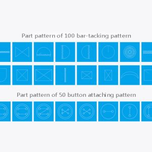 Jack JK T1900BSK Veľa vzorov ktoré sa ľahko nastavujú
